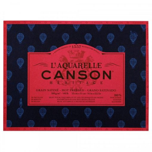 Canson Heritage Hot pressed tömb