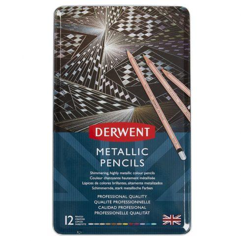 Derwent metálszínű ceruzakészlet