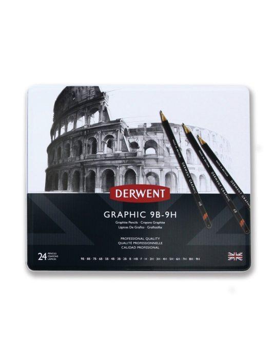 Derwent Graphic grafitceruza készlet fémdobozos 24 db-os