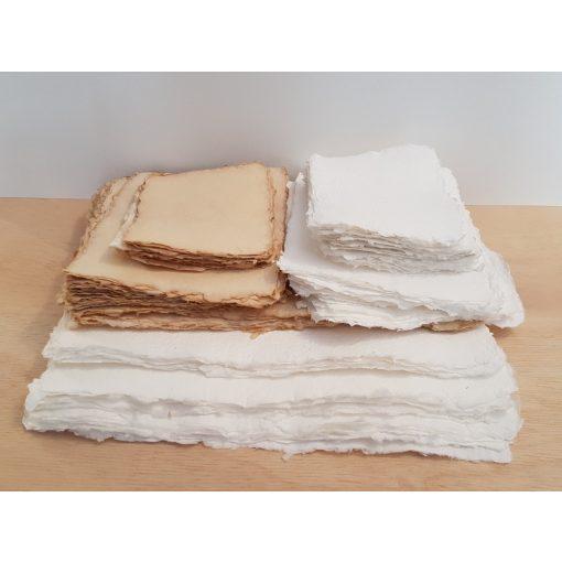 Merített papír csomag - 10 ív fehér