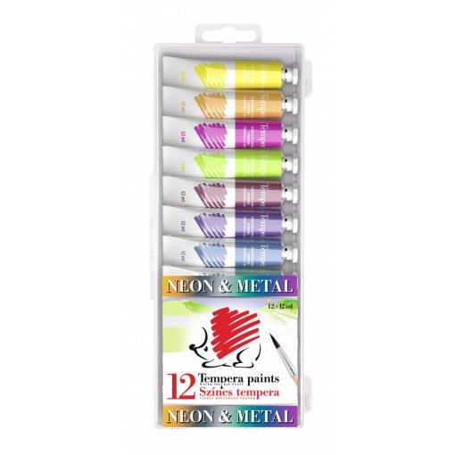 Temperakészlet neon és metál színek