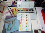 akvarell készletek